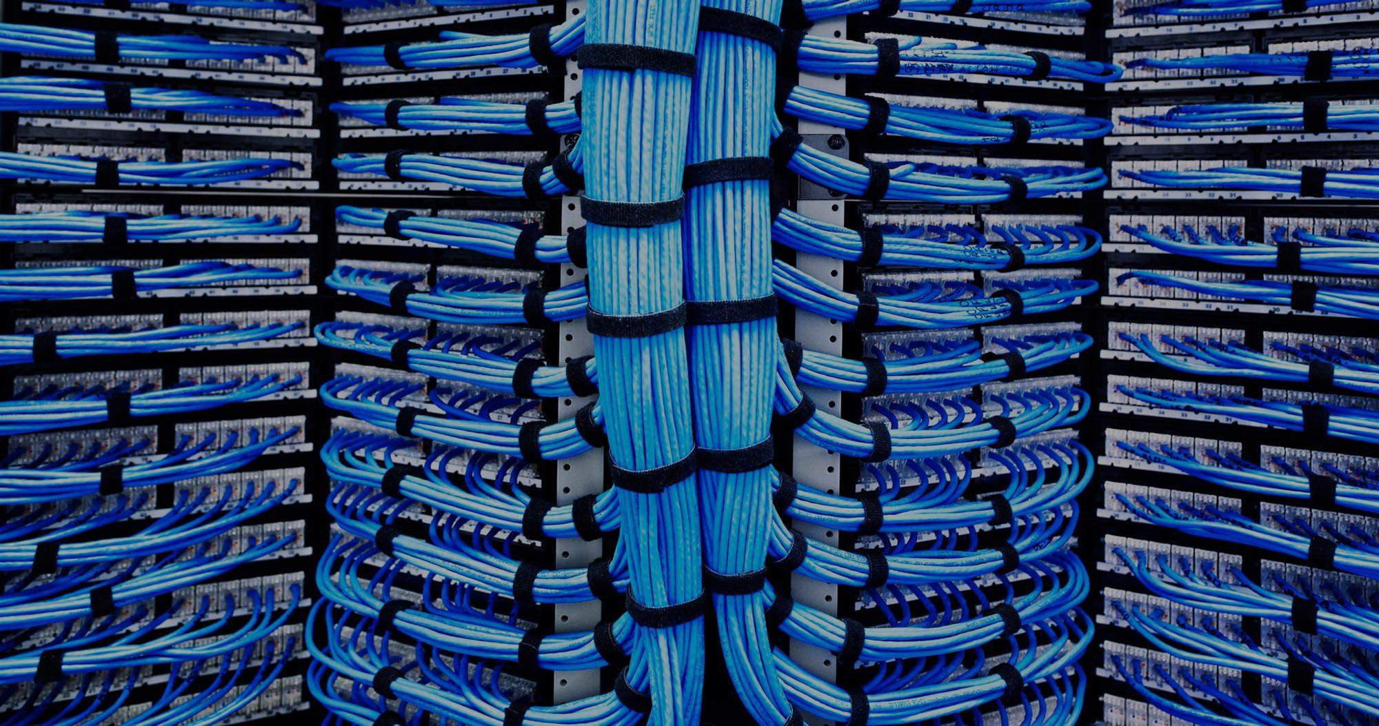 Racks of networked internet connection