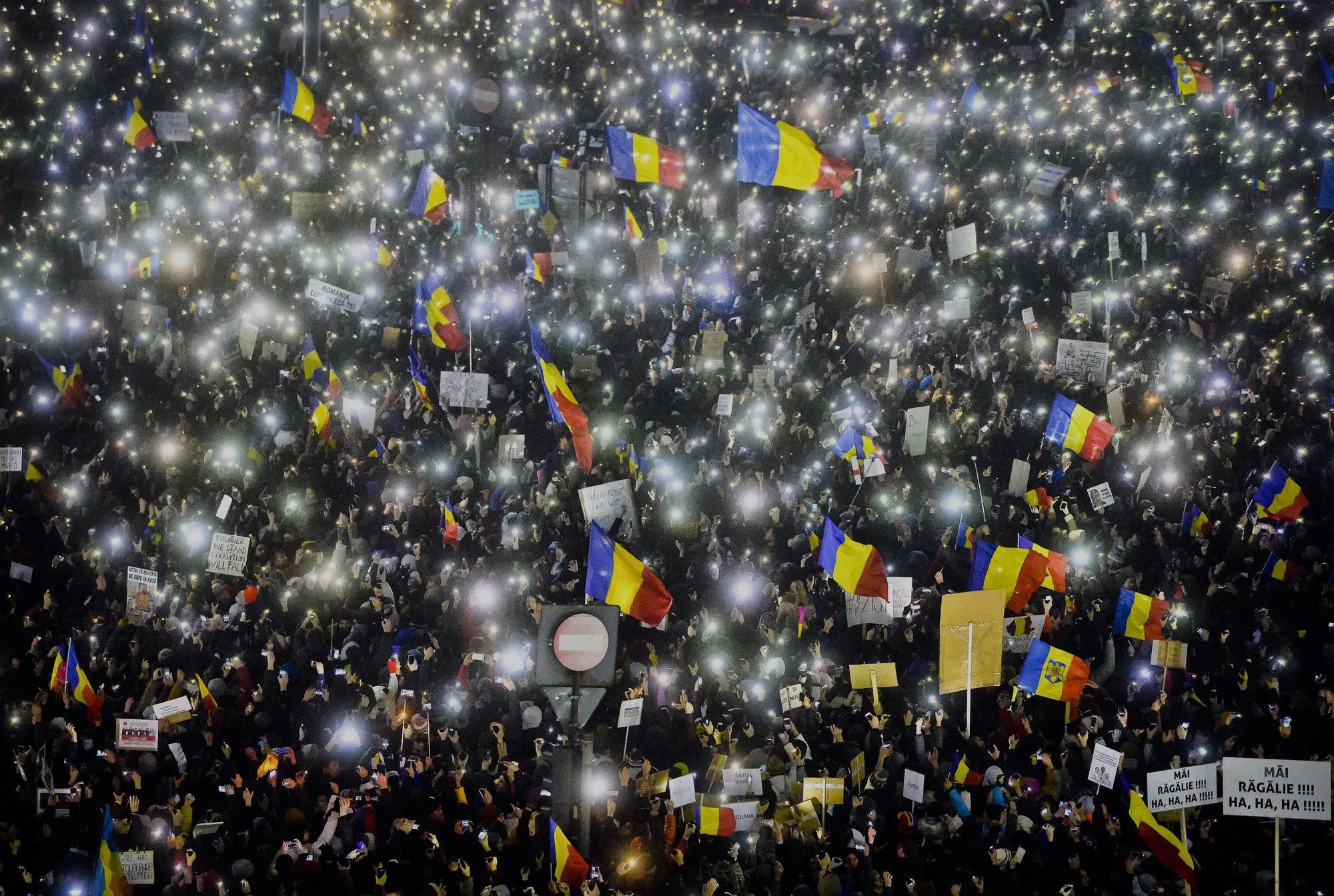 Romania Light Revolution