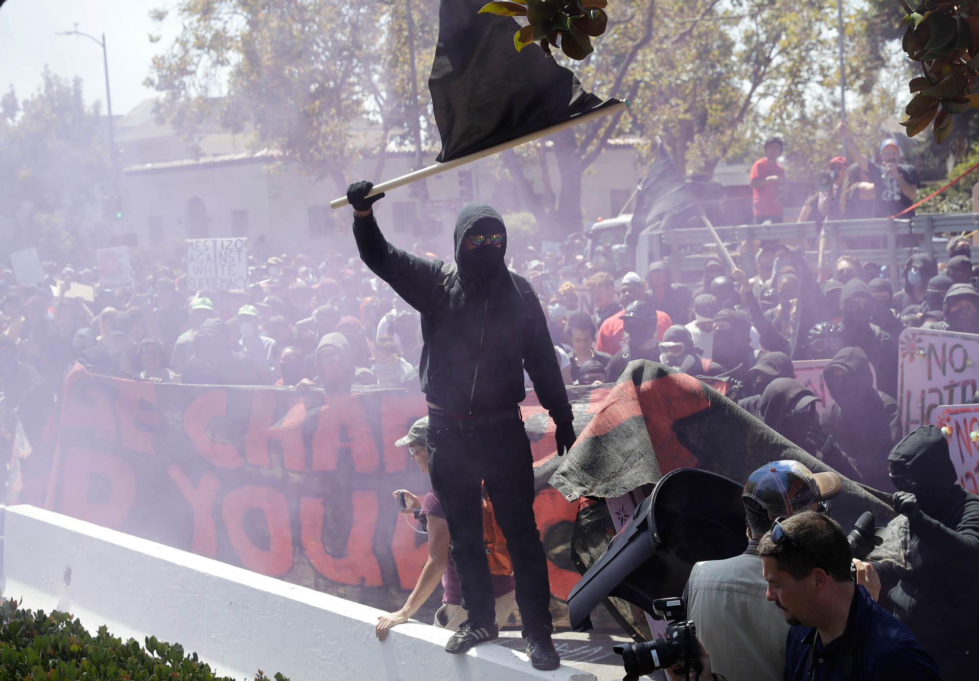 Berkeley antifascist demonstrator
