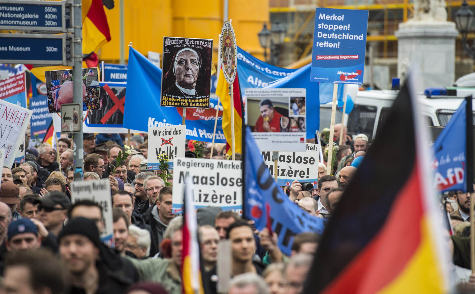 An AfD demonstration.