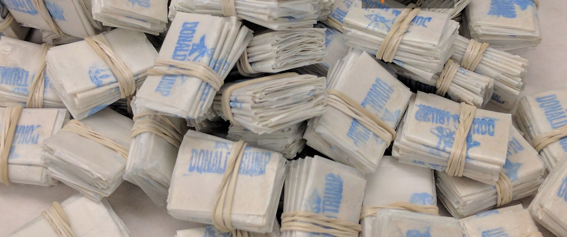 Packets of heroin stamped with Donald Trump's name.
