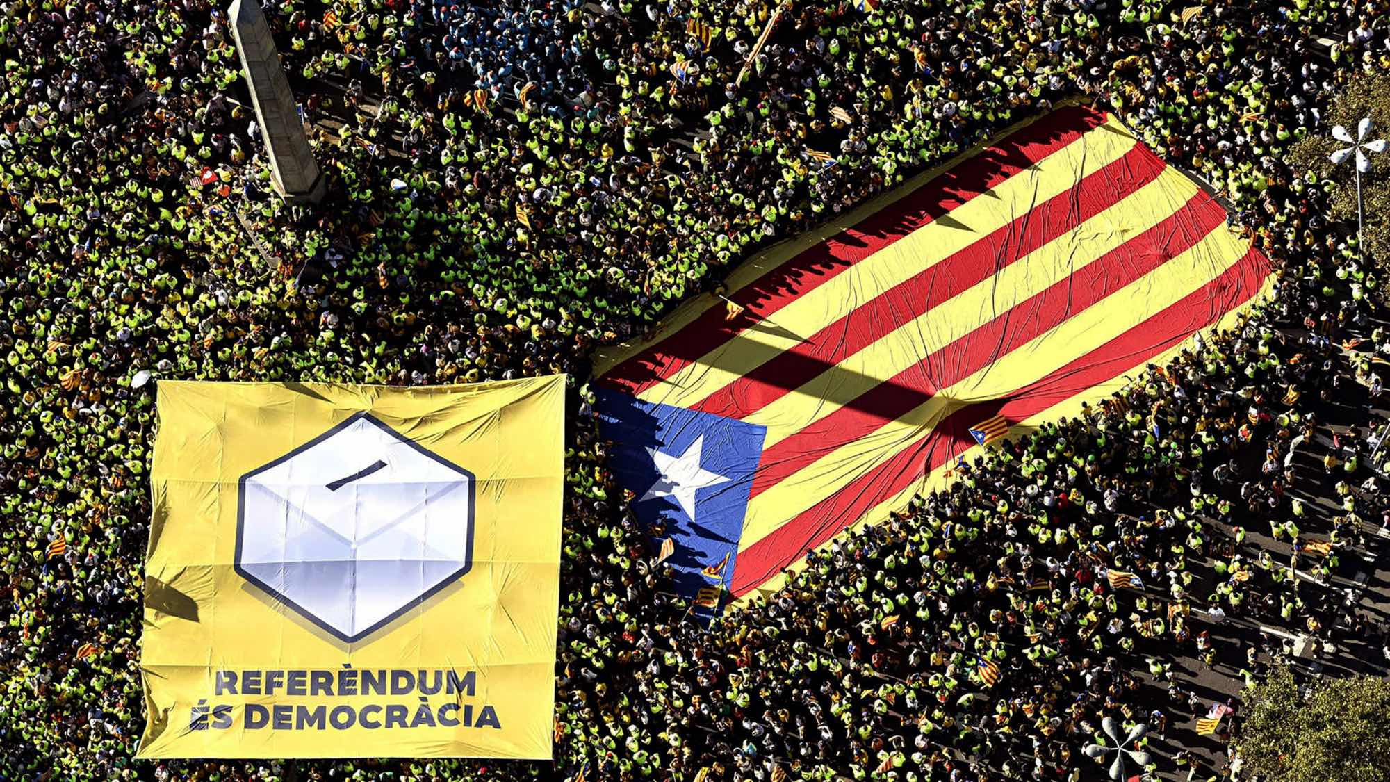 A demonstration for Catalan independence.
