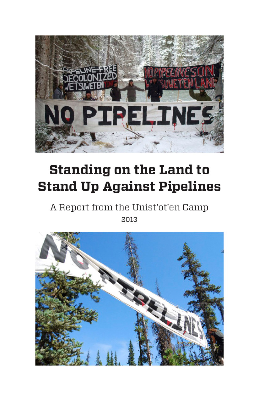 Photo of 'Standing on the Land to Stand Up Against Pipelines' front cover