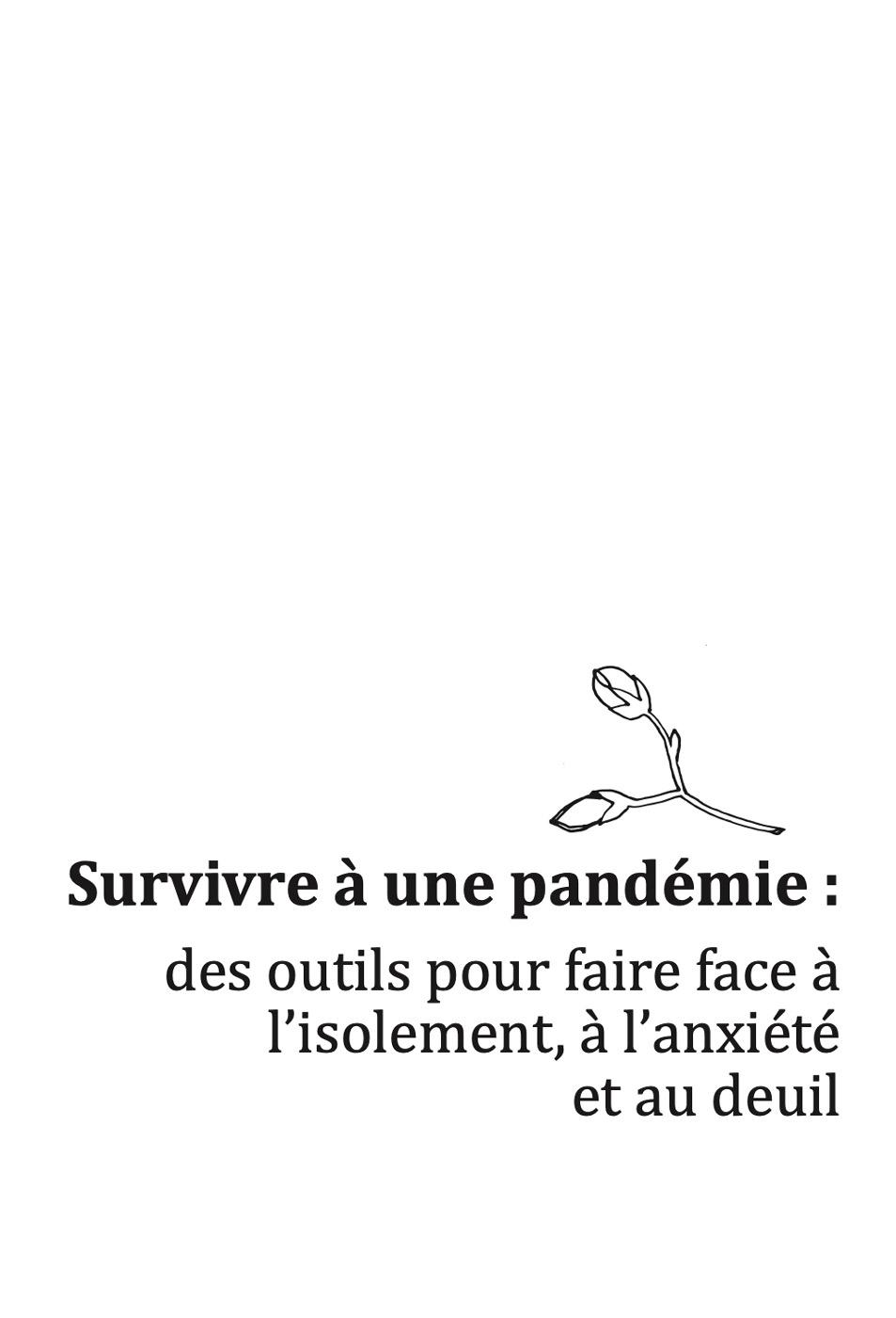 Photo of 'Survivre à une pandémie' front cover