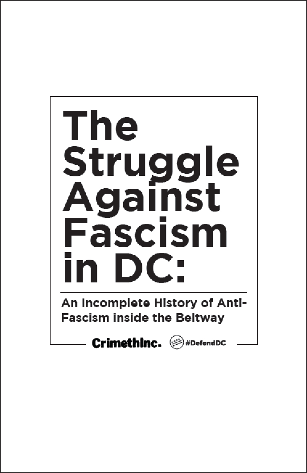 Photo of 'The Struggle Against Fascism in DC' front cover