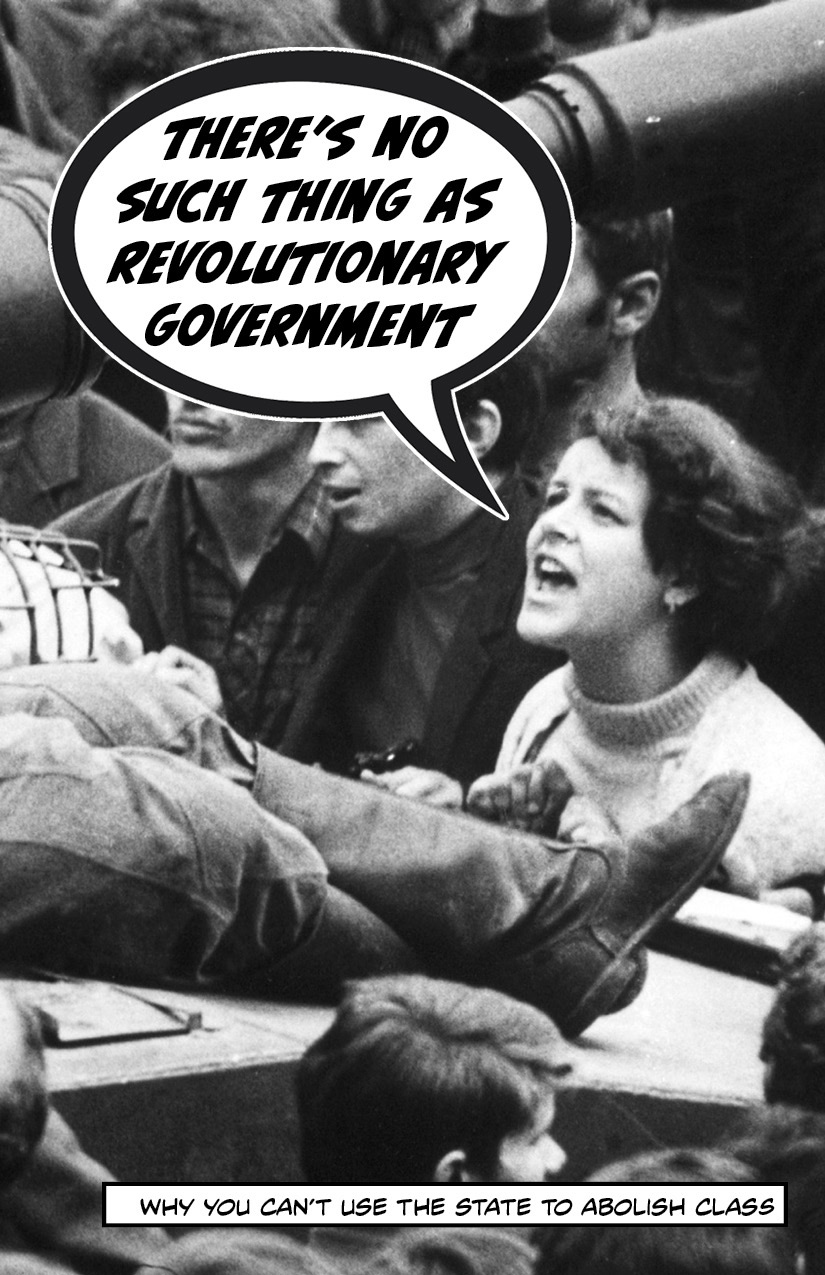Photo of 'There's No Such Thing as Revolutionary Government' front cover