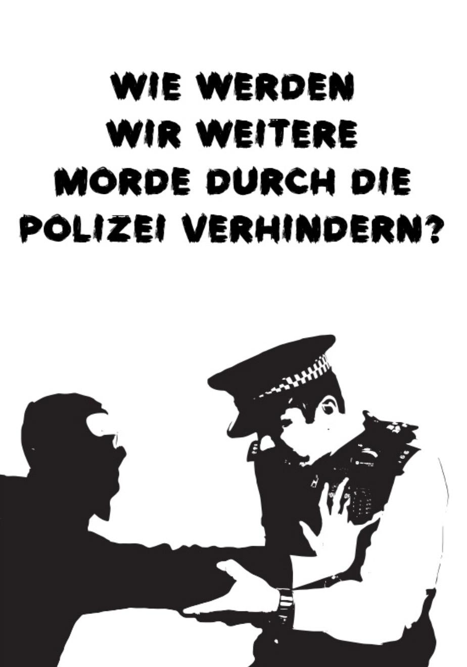Photo of 'Wie werden wir weitere Morde durch die Polizei verhindern?' front cover